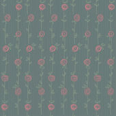 Bezešvé květinový vzor s abstraktní růže květiny — Stock vektor