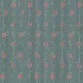 Patrón floral transparente con flores abstractas — Vector de stock