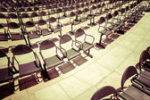 Chairs at outdoors concert hall — Stock Photo