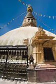 Buddhist Shrine Boudhanath Stupa. Nepal — Stock Photo