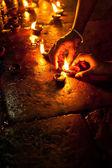 Religious ritual in Hindu temple. — Stock Photo