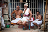 MADURAI, INDIA Hindu Brahmin with religious attribute — Stock Photo