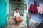 тируччираппалли, индия неопознанных индийский мальчик — Стоковое фото