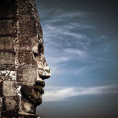 Buddha faces of Bayon temple at Angkor Wat complex, Siem Reap, Cambodia — Stock Photo