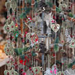 Christmas market details. Christmass tree decorations — Stock Photo