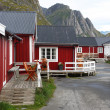 Wooden house at Lofoten archipelago — Stock Photo #13715579