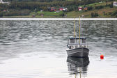 Moored yacht — Stock Photo