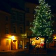 Christmas tree on a street — Stock Photo
