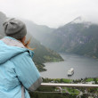 Looking at Geiranger — Stock Photo