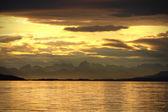 Sunset over the sea — Stockfoto
