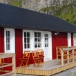 Wooden house at Lofoten archipelago — Stock Photo #19837633