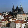 Panorama view of the Prague - Stock Photo