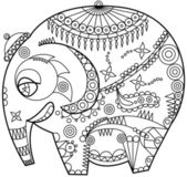 Ornated elephant — Stock Vector