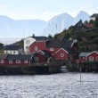 Wooden house at Lofoten archipelago — Stock Photo #26177445