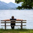 Rest on the bench — Stock Photo