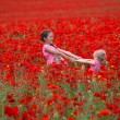 Girls with poppies — Stock Photo #29468163