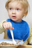 Baby eating — Stock Photo
