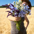 Bunch of field flowers — Stock Photo