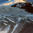 Stock Photo: Panorama of morning Elbrus with glacier