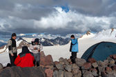 Mountain camp — Stock Photo