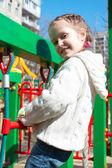 Girl at playground — Stock Photo