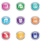Utility bills icons — Stock Vector
