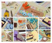 Collage scrapbook — Stock Photo