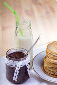 Pancakes with jam — Stock fotografie
