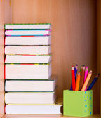 Books and pencils — Stock Photo
