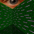 Stock Photo: Cyber Stalking Spyware Eye