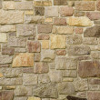 Masonry Wall of Multicolored Stone — Stock Photo