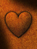 Heart against a Rusty Background — Stock Photo