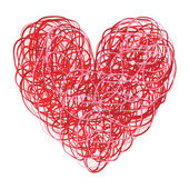 Red and Pink Scribbled Heart — Stock Photo