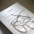 Multi-page legal contract agreement — Stock Photo #25748905