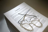 Multi-page legal contract agreement — Stock Photo
