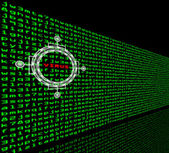Computer virus detection in a firewall of machine code — Stock Photo