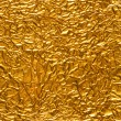 Stock Photo: Crinkled Gold Foil Background