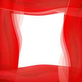 Red wavy graphic border — Stock Photo