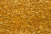 Crinkled Gold Foil Background — Stock Photo