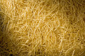 Yellow packing straw material lit diagonally — Stock Photo