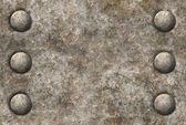 Textura superficial metal angustiado con dos filas de remaches seamles — Foto de Stock