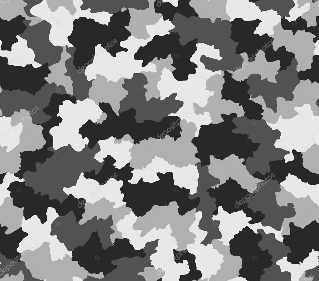 Polar black and white camouflage seamless pattern — Stock ...