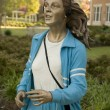 "Sculpture of an jogging woman called ""Shaping Up"" by J. Seward J — Stock Photo"