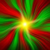 バーストと赤い & 緑のクリスマスの渦 — ストック写真