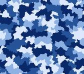 Blue camouflage seamless pattern — Stock Photo