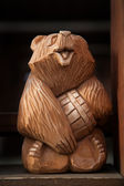 Wooden bear — Foto Stock