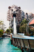 Water ride at an amusement park — Foto Stock