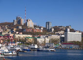 City of Vladivostok view from the sea party — Stock Photo