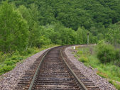 Lonely railway track — Foto Stock