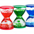 Three gel hourglasses — Stock Photo